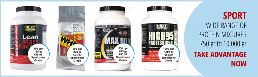 Supplements SPORT - WIDE RANGE OF PROTEIN MIXTURES 750 grams to 10,000 grams TAKE ADVANTAGE NOW